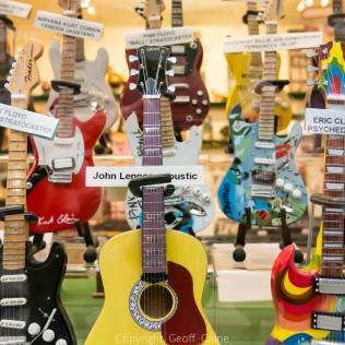 Guitar model shop in the Shambles brings back memories!