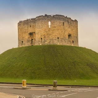 Clifford's Tower formed part of York castle has panoramic views over the city.