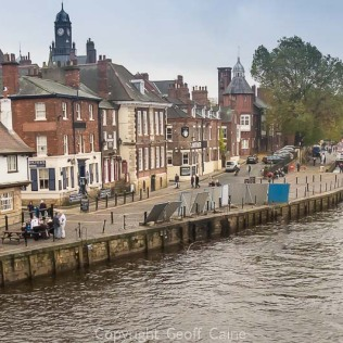 View south-east from Ouse Bridge along the River Ouse.