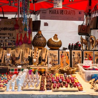Market stalls are very varied in product.