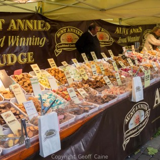 Very inviting fudge stall.
