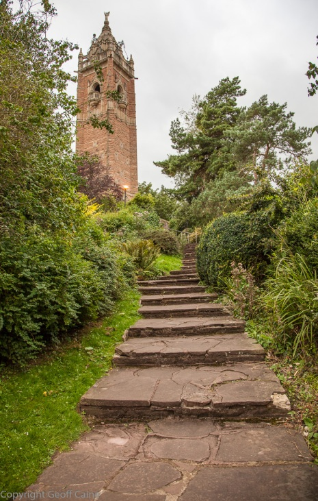 Steps up to Cabot Tower on Brandon Hill....and this before you attempt the spiral climb within it!