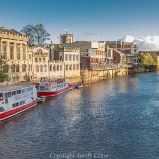View south-east from Lendal Bridge along the River Ouse.