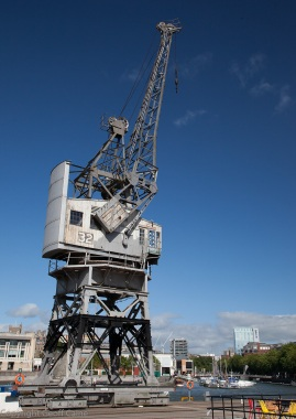 Like giant automatons the cranes hold their heads high - soldiers of import and export for England.