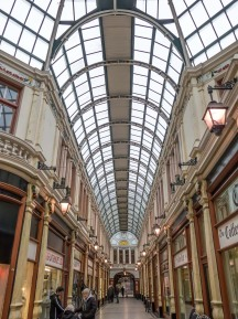 Inside Hepworth's Arcade dating from around 1900.