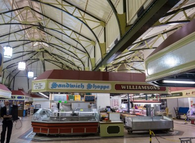 Inside Trinity Market.