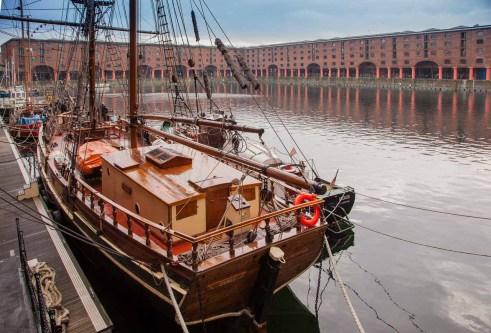 Tall ships in Albert Dock.