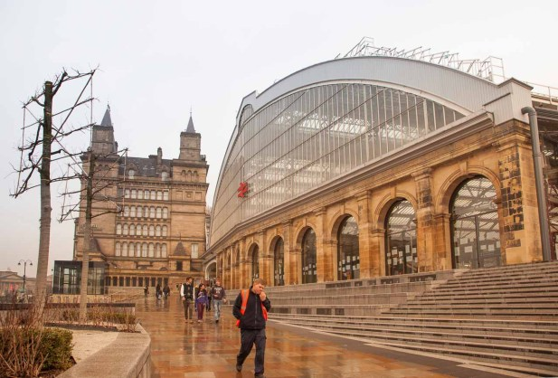 The front of majestic Lime Street Station.