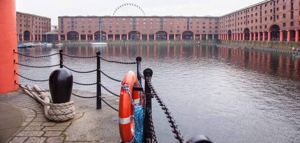 View south over Albert Dock.