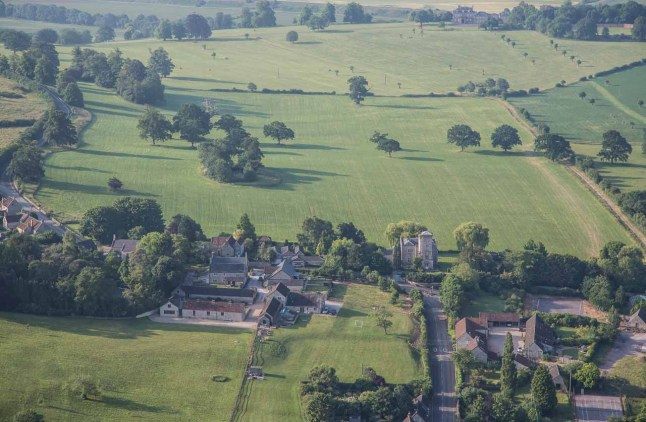 Flying over Kelston village.