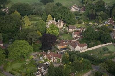 Close up of Upton Cheney village.